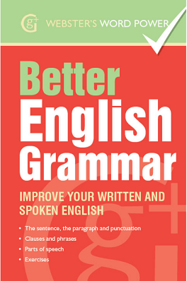 BETTER ENGLISH GRAMMAR